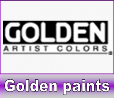 Golden airbrush verf