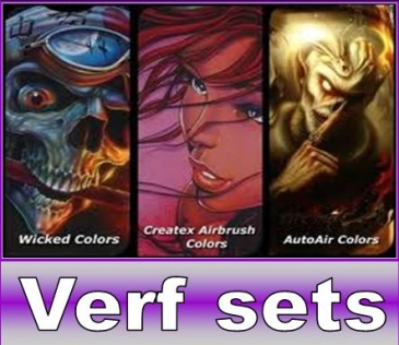 Airbrush Verf sets/koffers