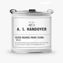 gloss enamel paint silver 250ml